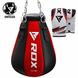 Rdx Heavy Punch Bag Maize Pear Angle Unfilled Boxing Gloves Mma Kick Muay Thai O