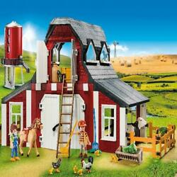 Farm House With The Barn Silo Feeding Animals Toy Play Set And Accessories New