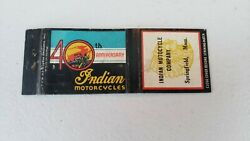 Rare Indian Motorcycle Matchbook, Late 1940s, Antique Collectibla