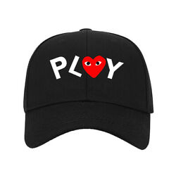 New Hat Play Heart Eyes Cartoon Graphic Printed Baseball Cap One Size Fits All $11.99