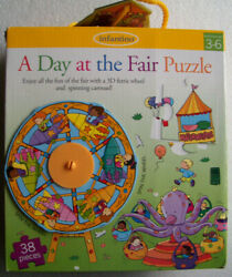 Infantino A Day At The Fair 3d Puzzle Ferris Wheel Carousel