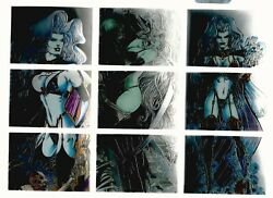 Lady Death Chromium Trading Cards 90 Complete 1995 Third Series + 2 Clear
