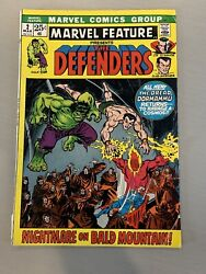 Marvel Feature 2 - 2nd Team Appearance Of The Defenders Buscema And Romita Art