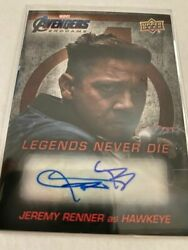 Upper Deck Marvel Avengers Endgame Jeremy Renner As Hawkeye Auto Autograph Card