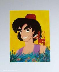 Disney's Aladdin And Abu Signed Lithograph By Eric Robison 1993 Rare And Limited