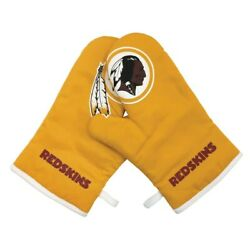 Washington Redskins Nfl Oven Barbecue Grill Cross Mitt Gloves 2 Pack Brand New