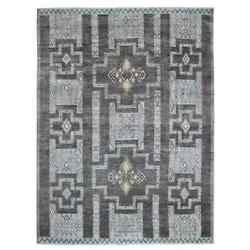 8'9x11'8 Gray Peshawar With Berber Motifs Hand Knotted Oriental Rug G55030