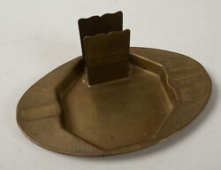 Morgan And Wright Are Good Tires B10b Brass Match Holder And Ashtray Bicycle 1900