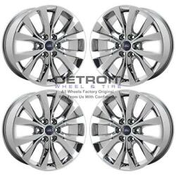 20 Ford F150 Pvd Bright Chrome Wheels-h Rims Factory Oem 10003 Exchange 2007...