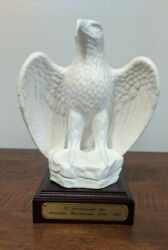Goebel White Bisque Signed Eagle Figure Ltd Bicentennial Low 404 Of 5000