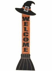 Halloween Witch Hat Welcome Sign For Leaning On The Front Porch