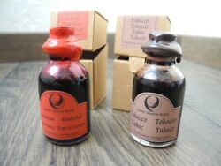 Rare Vintage Campo Marzio-roma 2 Bottles Ink Italy Bloody Red Tobacco New Sealed