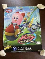 Vintage 2003 Nintendo Gamecube Kirby Air Ride Toysrus Store Display Sign Poster