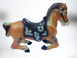 Vintage Blazon 1963 Plastic Rocking Horse Blow Mold // Horse Only - No Frame