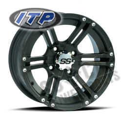 Itp Ss212 Wheel 12x7 4/110 Matte Black 5+2 Arctic Cat 250 2x4 [irs] 2007-2008