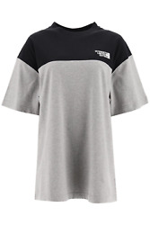 New Vetements T-shirt With Logo Embroidery Uah21tr507 1611 Grey Black Authentic