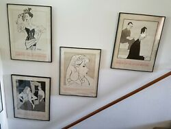 Set Of 10 Framed Posters By William Auerbach-levy