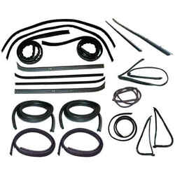 Window Sweep Belt And Glass Run Channel And Door Seal Kit For 78-79 Ford Bronco