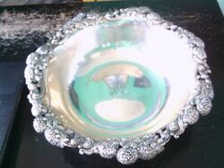 Antique And Co. Sterling Silver Clover Blossom Design Fruit Bowl. Buy Now