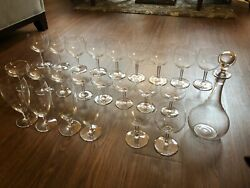 Baccarat Crystal Wine Glasses And Decanter