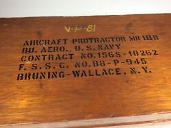 Vintage Wwii U.s. Navy Military Aircraft Protractor Set Squadron Named Vp-81