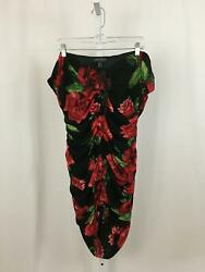 Forever 21 NEW Women's Size 2X Cute Black Red Floral Pattern Bodycon Dress NWT $15.97