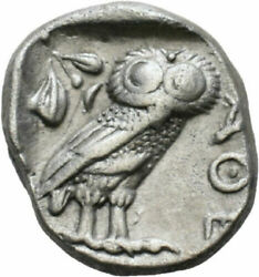 Ancient Greek Coin Attica Athens Owl Silver Tetradrachm-450 Bc