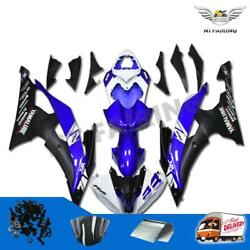 Injection Mold Blue Black Plastic Fairing Fit For 2008-2016 Yzf R6 Yamaha K003 G