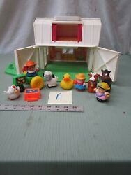 Fisher Price Little People Play Family Farm Barn Chunky 2555 Set Lot Toy A