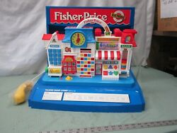 Vintage Fisher Price Talking Smart Street Learning Toy Store Display Look