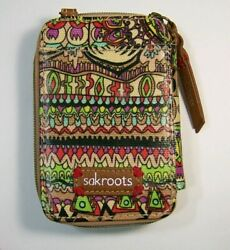 Sakroots Peace Wristlet Crossbody Wallet Phone Case Card Slots No Strap $22.00