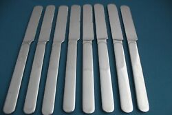 8 Blunt Knives Reed And Barton Select Middleburg-marlborough Stainless 8 5/8