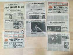 Vintage Newspaper Articles About Beatles John Lennon And His Death On 8 Dec1980