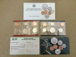 1989 10-coin P And D Marks Uncirculated Coin Set • Us Mint • Sealed W/ Coa