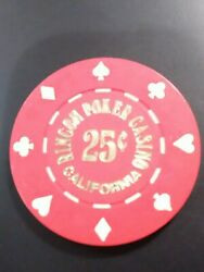 Rincon Poker Casino California Vintage Vault .25 Cent Chip Great For Collection
