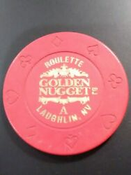 1992 Golden Nugget Casino Laughlin Nevada Roulette Chip Great For Collection