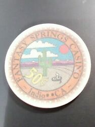 Fantasy Springs Casino Indio California .50 Cent Chip Great For Any Collection