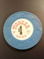 Pioneer Hotel Casino Laughlin Nevada 1.00 Chip Great For Any Collection