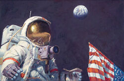 Last Man On The Moon Sold Out Limited Edition Canvas By Capt. Alan Bean
