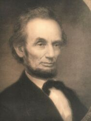 Rare Large Abraham Lincoln Engraving / Print 1866 By William E Marshall