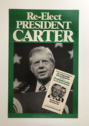 1980 Jimmy Carter Mondale Re-election Presidential Campaign Poster And Pamphlet