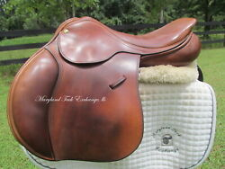 17 County Symmetry Close Contact Jumping Saddle Rare Find Used-wool Flocked