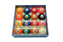 Size 2-1/4 In. Full Set 16 Pool Balls Delta Deluxe Ball Set - Green Dot Cue Ball
