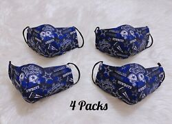 Dallas Cowboys Face mask Football NFL Reusable Washable Pack of 4 $24.00