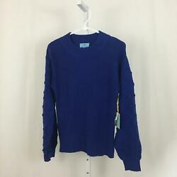 CeCe Nordstrom NEW Women#x27;s Size X Small Soft Bright Blue Pullover Sweater NWT $19.97