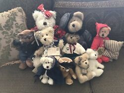Mixed Lot Of Collectible Vintage 9 Boyds Teddy Bears