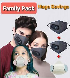 Family Savings on Face Mask 2 adult and 1 child Xiaomi Purely + Kids Respirator $130.00