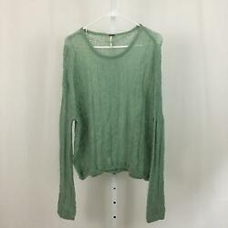 Free People Nordstrom NEW Women#x27;s Size Small Green Lightweight Sweater NWT $22.97