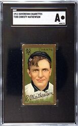 1911 T205 Christy Mathewson Gold Borders Sovereign Back - Sgc A Auth/alt Awesome