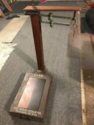 Howe Weigh Scale 2711 Primitive Industrial General Store Platform No. 9 19th C.
